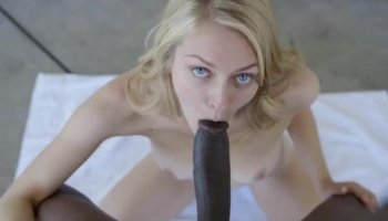 Beauty gives blowjob before nice cunnilingus