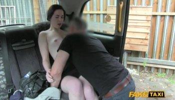 Snow white brunette Dafne rides on cock wildly