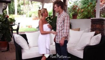 Ally Kay takes this hard dick deep in her moist slot