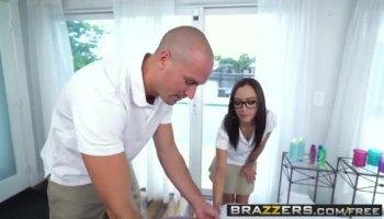 Charming hot babe Jenna Foxx having her wet pussy punished